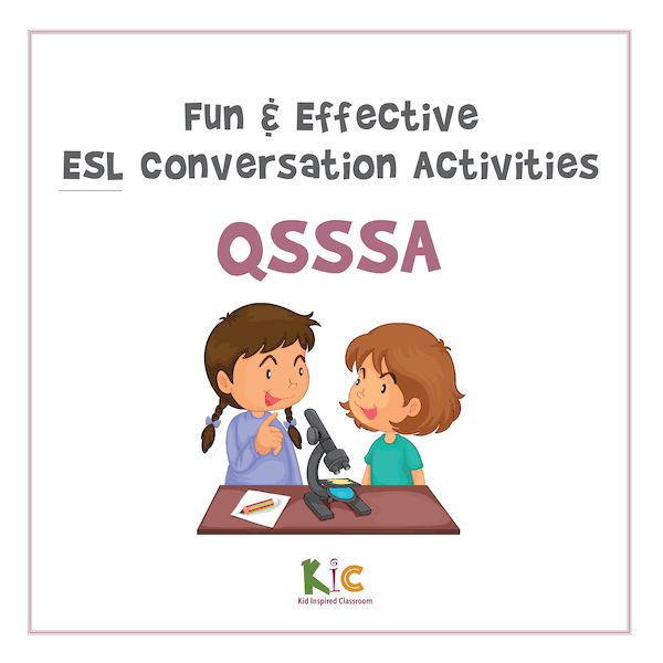 Fun and Effective ESL Conversation Activity QSSSA Activity